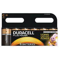 DURACELL C PLUS 6PACK COPPER/BLK