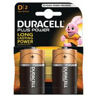 DURACELL D PLUS 2PACK COPPER/BLK