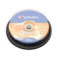 VERBATIM DVD-R 16X BRANDED SILVER 9040167