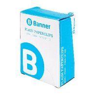 BANNER PAPERCLIP SM PLAIN 25MM BX100