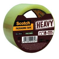 SCOTCH HD PACKING TAPE 50MMX50M CLR