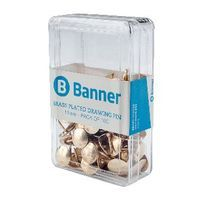 BANNER DRAWG PIN 11MM BRS PLTD BX100