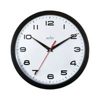 ACCTIM AYLESBURY WALL CLOCK BLK
