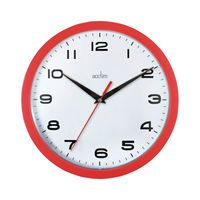 ACCTIM AYLESBURY WALL CLOCK RED