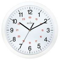 ACCTIM METRO 12 IN WALL CLOCK WHITE
