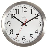 ACCTIM JAVIK 10IN ALU WALL CLOCK