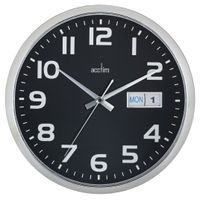 ACCTIM SUPERVISOR WALL CLOCK CHRM/BK