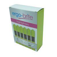 ERGO-BRIGHT HIGHLIGHTERS YLW P10