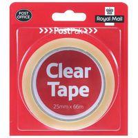 POSTPAK CLEAR TAPE 25MMX66M