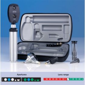 Heine Beta 200 Deluxe Diagnostic Set 2.5V, 1 Battery Handle, Illuminator with Tongue Blade Holder, Hard Case (A-134.10.118)