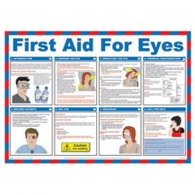 First Aid For Eyes Poster with Frame