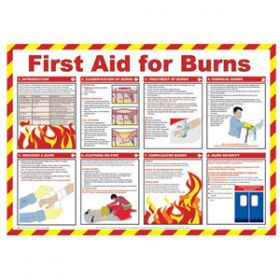 First Aid For Burns Poster with Frame