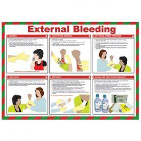 External Bleeding Poster with Frame