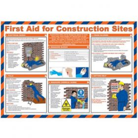 First Aid for Construction Sites Poster with Frame