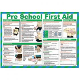 Pre School First Aid Poster with Frame