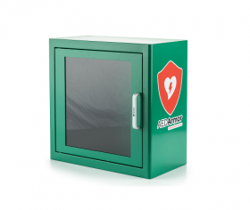 AED Armor Green Metal Indoor Cabinet with Alarm