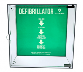 AED Armor Illuminated High Impact Perspex Indoor Cabinet