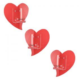 Perspex Heart Bracket Large [Pack of 1]