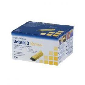 Unistik 3 Normal Lancets 23G/1.8mm [Pack of 100]
