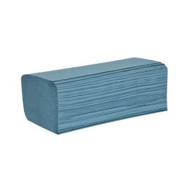 AW Essentials V-Fold Towels Blue Case Of 12