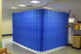 Opal Health Disposable Curtains With Nfh Hanging System Medium Pacific Blue