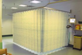 Opal Health Disposable Curtains With Uff Hanging System Large Sand