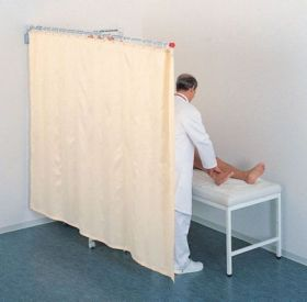 Ropimex 210cm Telescopic Cubicle Screen With Curtains (Rts2.1/Wh95/17xvr/Tcs213)