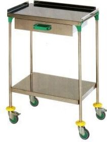 AW Select Treatment Trolley, Stainless Steel, 1 Drawer, 24 Inch