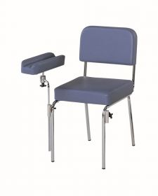 AW Select Phlebotomy Chair With Detachable Arm Rest - Blue