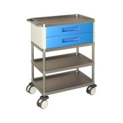 AW Select Multifunction Trolley With 2 Standard Drawers And 3 Shelves