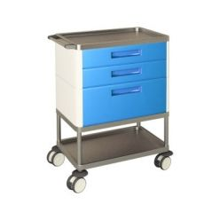 AW Select Multifunction Trolley With 2 Standard Drawers, 1 Large Drawer And 2 Shelves