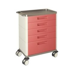 AW Select Multifunction Trolley With 5 Standard Drawers, 1 Large Drawer And 1 Shelf