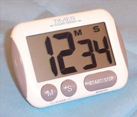 Fisher Timer Jumbo Display Count Down With Back Clip, Stand And Battery