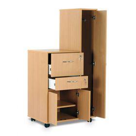 Bristol Maid Bedside Cabinet - Beech - Right Hand Wardrobe - Drawer - Personal Drawer - Cupboard - Cam Lock