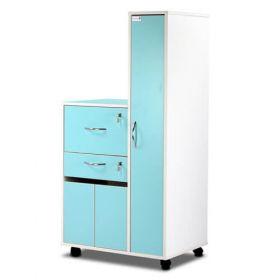 Bristol Maid Bedside Cabinet - Grey White - Right Hand Wardrobe - Drawer - Personal Drawer - Cupboard - Cam Lock