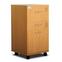 Bristol Maid Bedside Cabinet - Beech - Lockable Upper Drawer - Personal Drawer - Large Lower Drawer - Adjustable Shelf