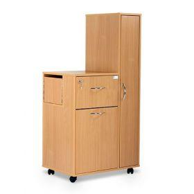 Bristol Maid Bedside Cabinet - Beech - Right Hand Wardrobe - Drawer - Large Lower Drawer - Adjustable Shelf - Cam Lock