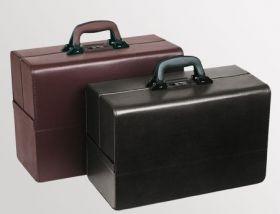 Bollmann Concertina Leather Deep Base Case, Burgundy [Pack of 1]