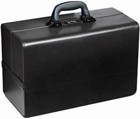 Bollmann Concertina Leatherette Case, Black [Pack of 1]