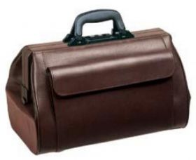 Bollmann Medistar Leather Case, Burgundy [Pack of 1]