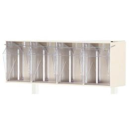 Bristol Maid Tilt Bin 4 Compartment- C/W Stainless Steel Fitting Kit For Overbridge