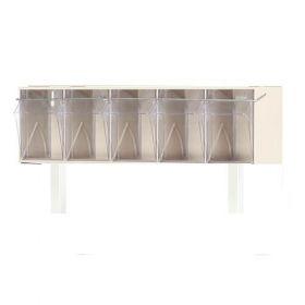 Bristol Maid Tilt Bin 5 Compartment- C/W Stainless Steel Fitting Kit For Overbridge
