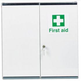 First Aid Metal Cabinet Double Door, Double Depth, Empty