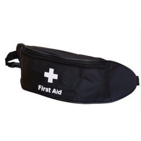 First Aid Bum Bag (Black), Empty