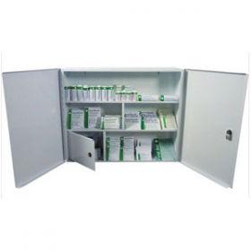First Aid Metal Cabinet Double Door, Single Depth, Empty