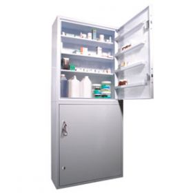 Lec CDC1250, Wall/Floor Mounted, Ambient Steel Controlled Drugs Cabinet