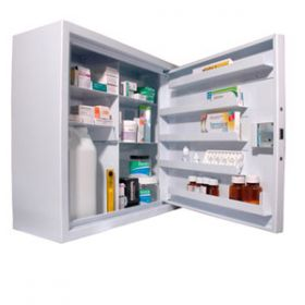 Lec CDC570, Wall Mounted, Ambient Steel Controlled Drugs Cabinet