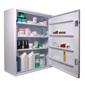 Lec CDC760 Wall Mounted, Ambient Steel Controlled Drugs Cabinet