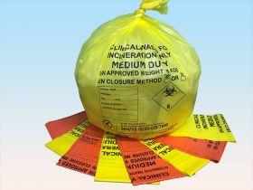 Orange Clinical Waste Sacks For Alternative Treatment 8kg