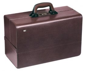 Bollmann Concertina Leatherette Case, Burgundy [Pack of 1]